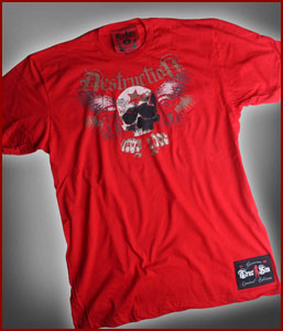 Men's Destruction Fight Gear Red Tee