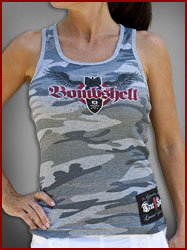 Ribbed Cammo Bombshell Tank Top